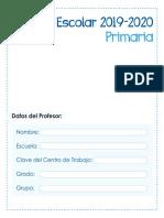 Agenda Primaria  2019-2020