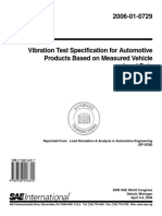 Vibration Test Specification for Automotive Products Based on Measured Vehicle Load Data