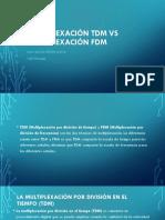 Multiplexación TDM vs Multiplexación FDM