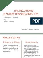 IR System Transformation