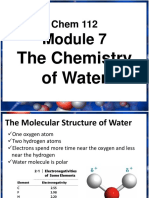 USTENGG Eng 201 Module 7 the Chemistry of Water