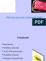 How to present a journal