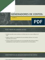 Generadores de costos