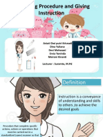 Explaining Procedure and Giving Instruction Ppt