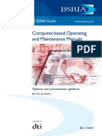 Computer Based Operating and Maintenance Manuals Options and Procurement Guidance Withdrawn (Sample)