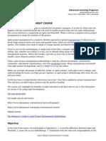 Agile Project Management Course_course Outline