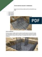 Proceso Constructivo de Zapatas Aisladas y Combinadas