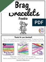 Brag Bracelets Freebie