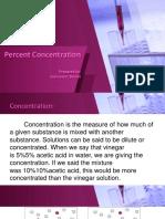 Percent concentration