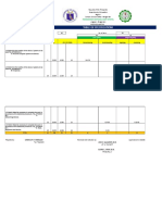 Sample Table of Specification