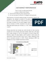 Global Car Market Performance Press Release