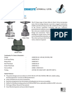 Forged Steel Gate, Globe & Check Valves