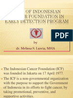 Role Of Indonesian Cancer Foundation In Early Detection Program
