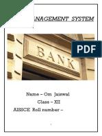 BANK  MANAGEMENT  SYSTEM(Om).docx