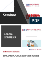 General Principles in Taxation Law
