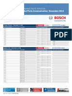 BOSCH Obsolete-Superseded Parts for Oxygen Sensors, Ignition Coils, Distributor Caps, Distributor Rotors, And Fuel Pumps
