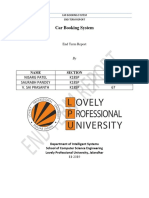 Car Booking System