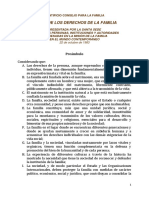 Artículos de La Carta de Derechos de la Familia