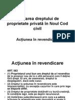 Noul Cod Civil Apărarea Dreptului de Proprietate Privată