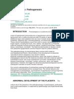 Pre-eclampsia - Fisiopatologia