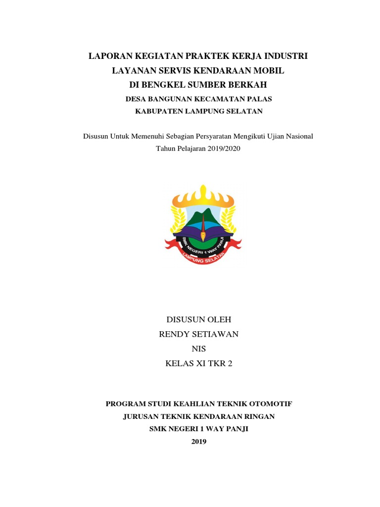 Laporan Pkl Perbaikan Rem Tromol