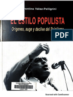 Velez-Pelligrini El Estilo Populista Origenes Auge y Declive Del Pujolismo