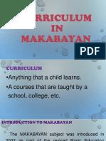 Curriculum in Makabayan