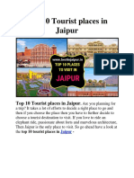 Top 10 Tourist Places in Jaipur