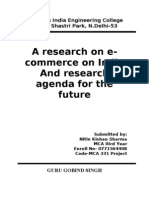 Project Research( E Commerce)