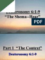 Deuteronomy 6 Sermon