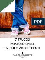 7 Trucos Para Potenciar El Talento Adolescente by Sandra Gomez