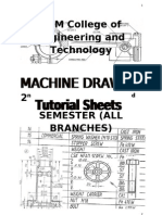 machine Drawing T-Sheet