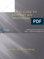 A Helpful Guide to Efficient SEO Maintenance