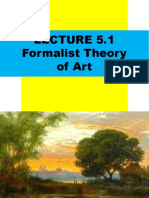 Art and Philosophy Formalist Theory