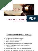 Prof. Serfino - Practical Exercises_2019