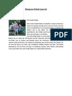 Lesen A1 - Frau Radler- Mit Lösungen