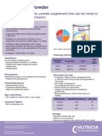 NutriniDrink Powder_Fact Sheet SA