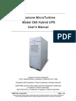 Capstone MicroTurbine Model C65 Hybrid UPS User's Manual