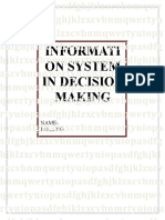 Information system in decision making
