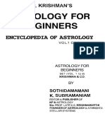 K P Krishman s Astrology for Beginners Encyclopedia of Astrology Vol 1