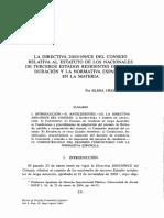 la directiva 2003:109:ce del consejo relativa al estatuto de los nacionales de terceros estados residentes de larga duracion y la normativa española