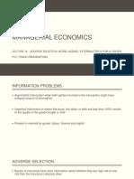 Managerial Economics Lecture 18 Final