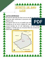 Triptico del distrito de San Luis