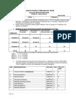 Specialization Form PGDM-G (2018-20) Format