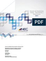 Anuario Nacimientos y Defunciones 2014