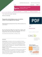 Propuesta metodológica para el análisis crítico a un programa de estudio _ García Milian _ Educación Médica Superior