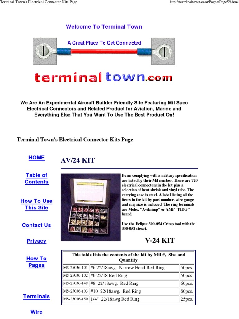 Terminal Town\'s Electrical .. | Electrical Connector | Electrical ...
