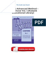 Rubank Advanced Method Saxophone Vol 1 Rubank Educational Library PDF