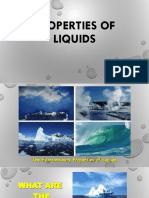 Properties of liqiud