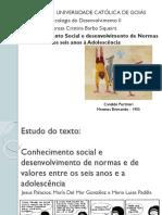 Conhecimento Social e Desenvolvimento de Normas e Valores Dos Seis Anos à Adolescencia